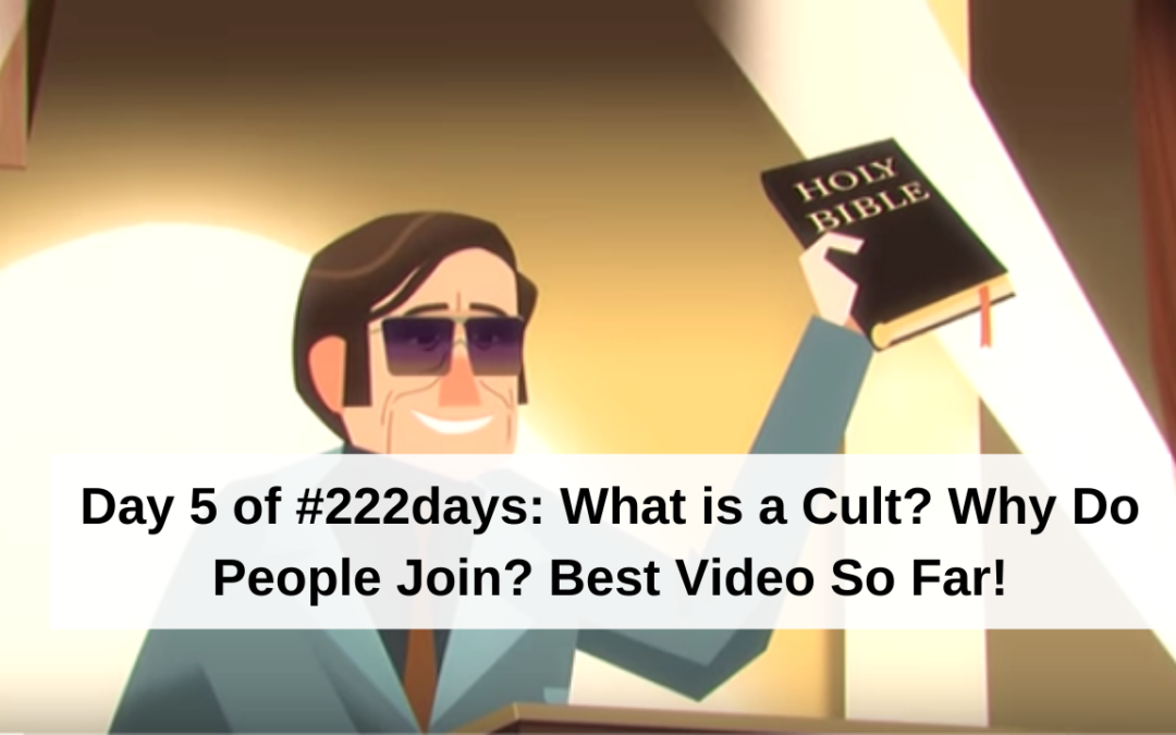 Day 5 of #222days: What is a Cult? Best Video So Far!